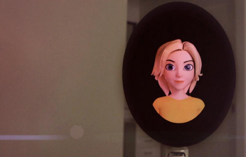 7fd982ad121ef5128c7ac078654021f4 large resize 可顯示虛擬人物表情的機器人助理 讓生活更方便