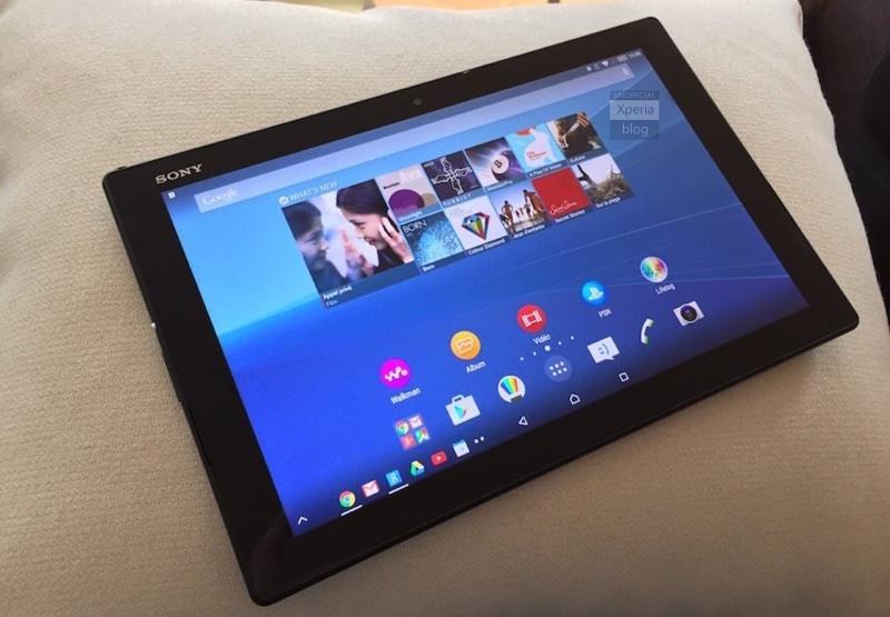 xperia z4 tablet1 resize Xperia Z4 Tablet、M4 Aqua實機外觀曝光