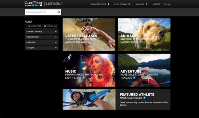 large licensing 2 GoPro影片平台 讓使用者開放授權獲利