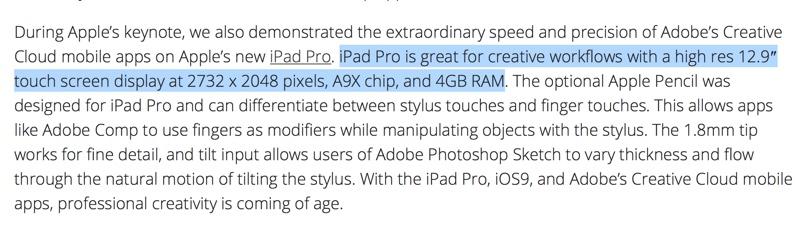 e89ea2e5b995e5bfabe785a7 2015 09 10 e4b88ae58d884 47 31 resize 對應大量運算 iPad Pro證實搭載4GB記憶體