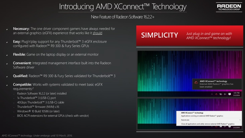 radeon xconnect press deck 5 resize AMD更新XConnect技術 對應顯示卡外接盒
