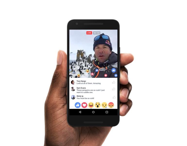 live reactions android resize Facebook直播再升級 小圈圈也能做實況