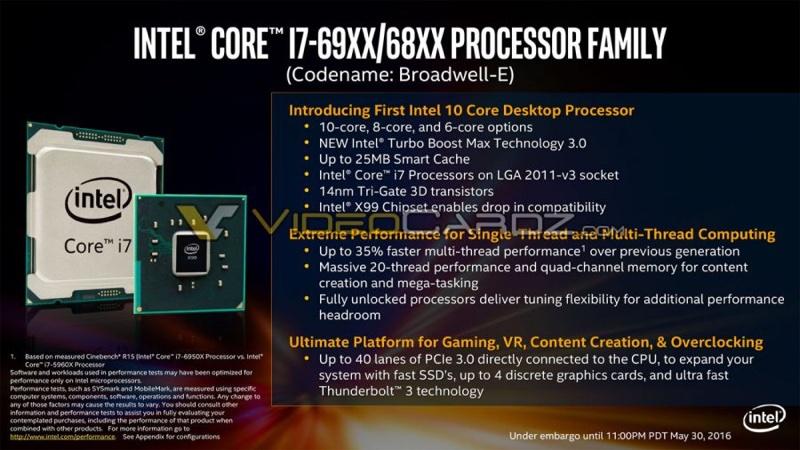 intel broadwell e i7 69xx 68xx 1 900x506 resize 5月底揭曉 10核Broadwell E處理器價格曝光